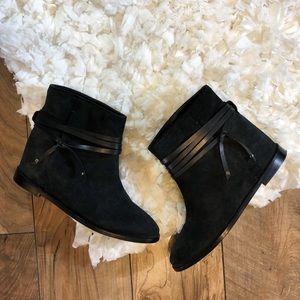Alice and Olivia Suede Hidden Heel Ankle Boots